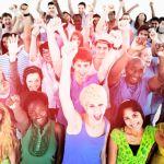 49845583 – large group of community people celebrating concept