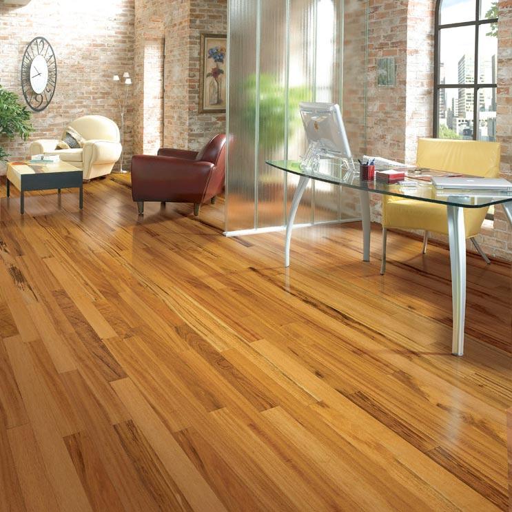Tigerwood Solid Lauzon Flooring 314 Natural SemiGloss