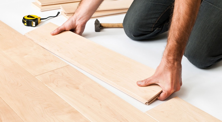 how to lay solid wood flooring a step
