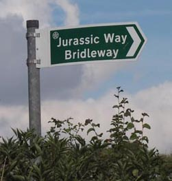 Jurassic Way Signpost