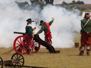 Sealed Knot Civil War Re-enactment on the Sara Field