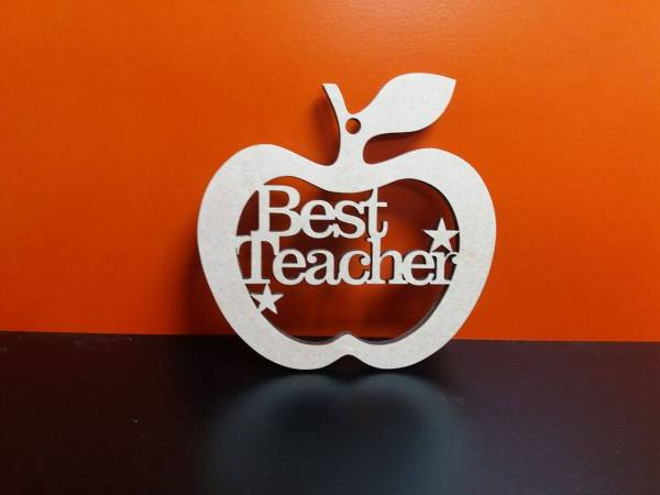 Teacher Hanging Apple 10cm X 1 Hole Woodform