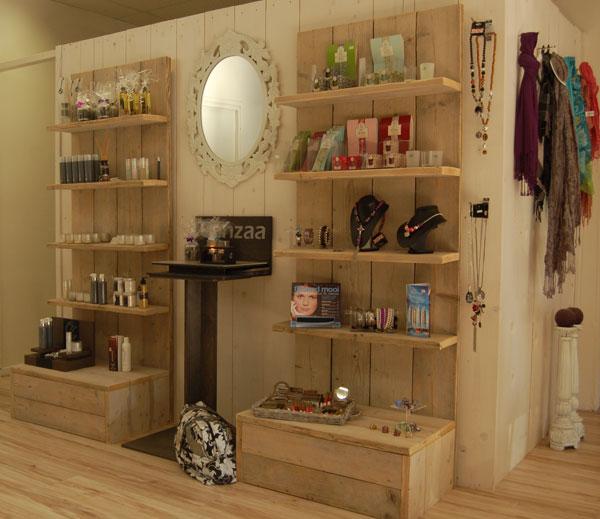 Steigerhouten display winkelinrichting  woodgoedcom