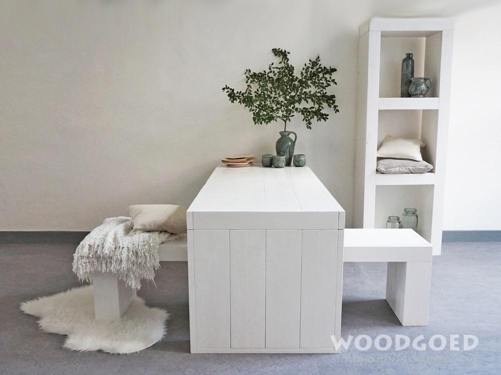 Witte Houten Eettafel Blanku  Woodgoedcom