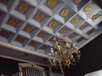 Wood Drop Ceiling with Circle Coffer * WoodGrid Coffered ...