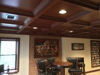 Basements/Bars/Game * WoodGrid Coffered Ceilings by ...