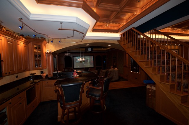 Basements/Bars/Game * WoodGrid Coffered Ceilings by