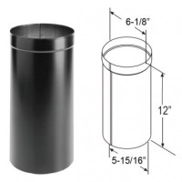 DuraVent DuraBlack Oval to Round Adapter 1675