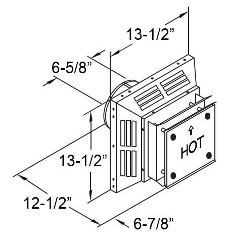 DuraVent DirectVent Pro Square Horizontal Termination Cap
