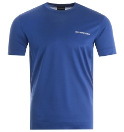 Emporio Armani Sustainable Tencel Blend T-Shirt - Blue