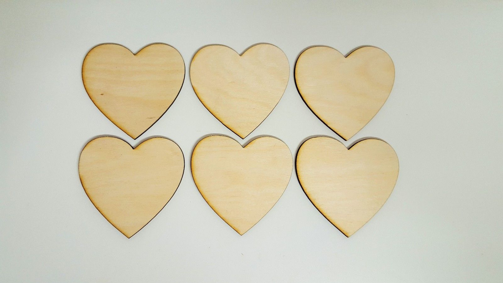Wooden Valentine Heart Shapes