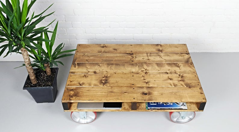 pallet coffee table rustic coffee