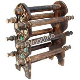 Woodino 6 Rod Regular Antique Bangle Stand