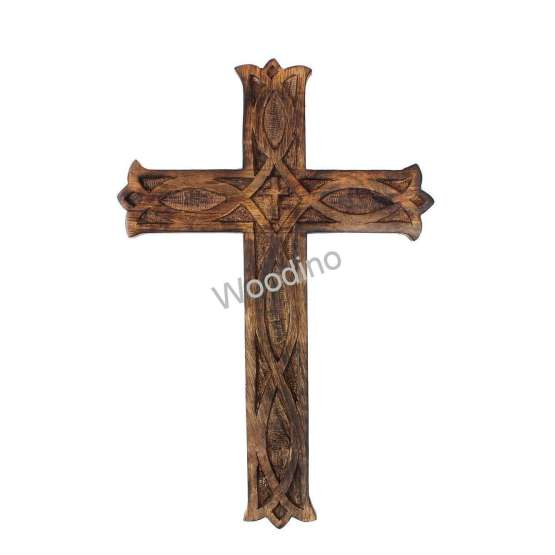 Woodino Christian Cross Jesus Antique Wall Decor Showpiece