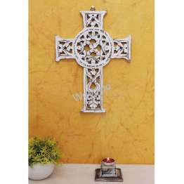 Woodino Wooden Jesus Christ Cross Designed Wall Hanging