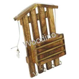 Woodino Mango Wood Wall Latter Rack