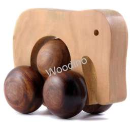 Woodino Hand Push Pulled Wooden Elephant