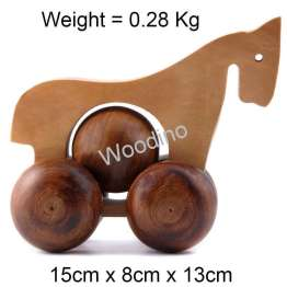 Woodino Hand Push Pulled Horse Animal Toys
