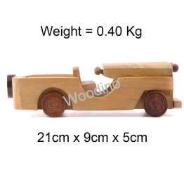 Woodino Haldu Wood Open Jeep Car Model Toy