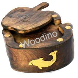 Woodino Antique Mango Wood Apple Coaster