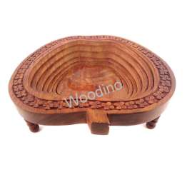 Woodino Apple Shaped Wooden Folding Spring Tray