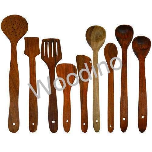 Woodino Kitchen Utensils - Jharni, Palta, Doyi, Butter Palta, Paratha Spoon