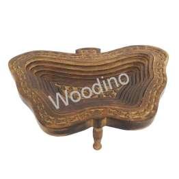 Woodino Mango Wood Apple Folding Spring Tray