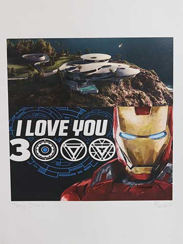 I love you 3000; Ironman and a futuristic hilltop building compound.
