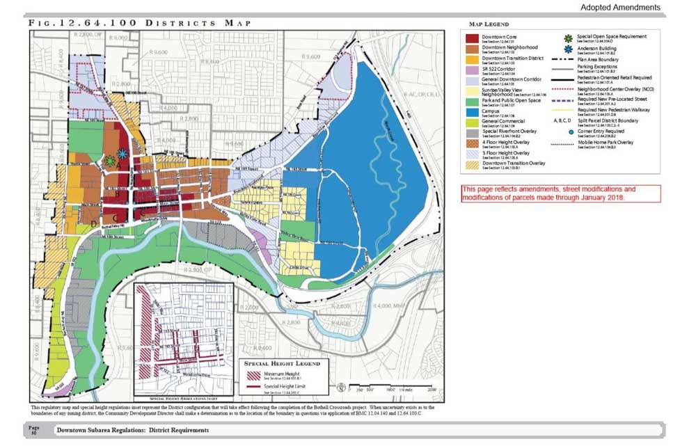 Bothell city zoning map amendments 2018