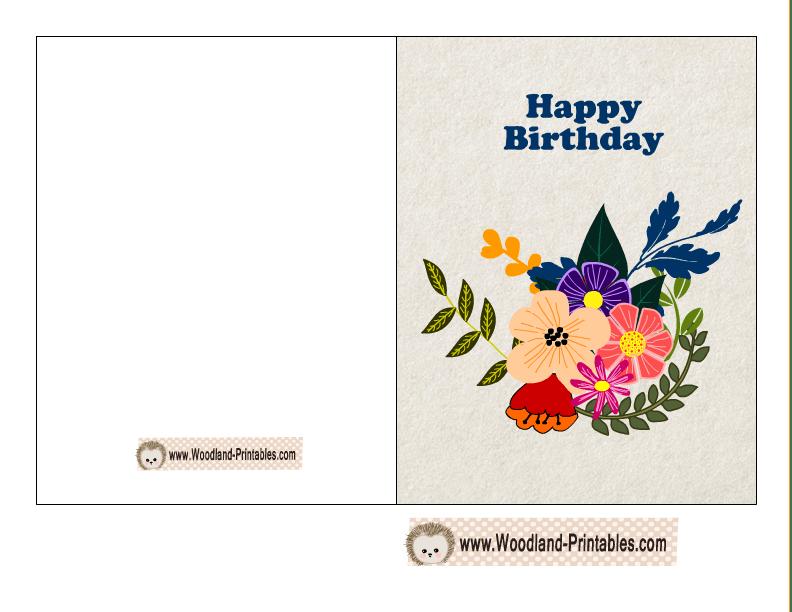 Free Printable Woodland Birthday Cards