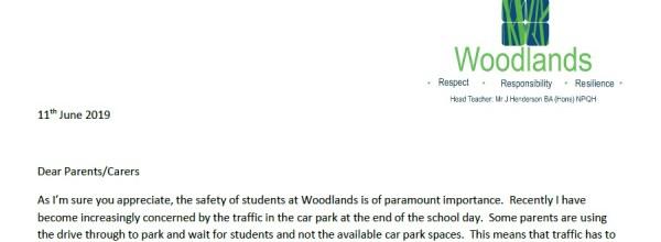 Car Park Traffic Letter