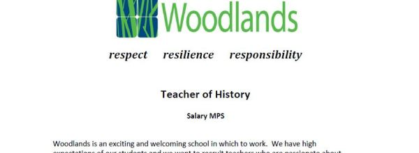 Teacher of History Vacancy