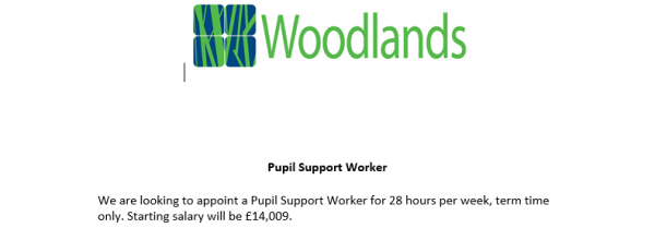 Pupil Support Worker Vacancy