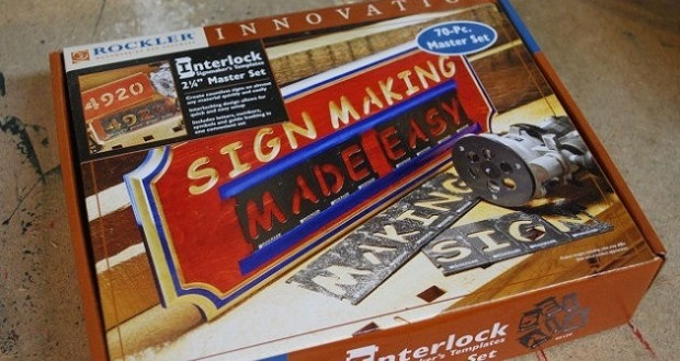 Interlock Sign Making Kit By Rockler Review WoodLogger