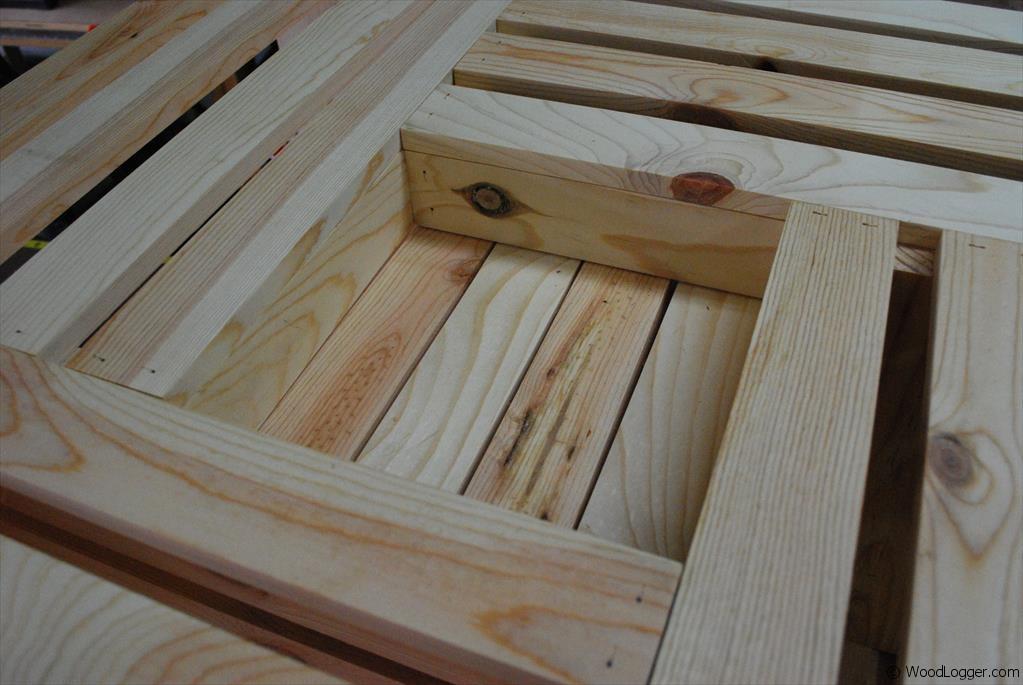 wood crate coffee table woodlogger