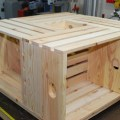 This crate coffee table is rustic and just looks fun when it s all
