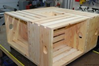 Wood Crate Coffee Table - WoodLogger