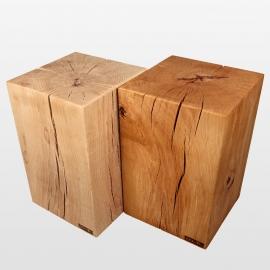 colonne massif de bois 40cm x 40cm