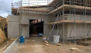 Wine Pressing Facility Concrete Construction