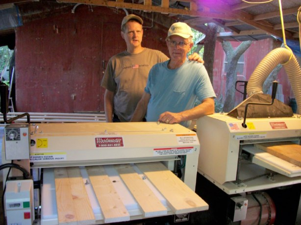 Bill and his son, Andy, have started a healthy woodworking business with the help of their Woodmaster Molder/Planer