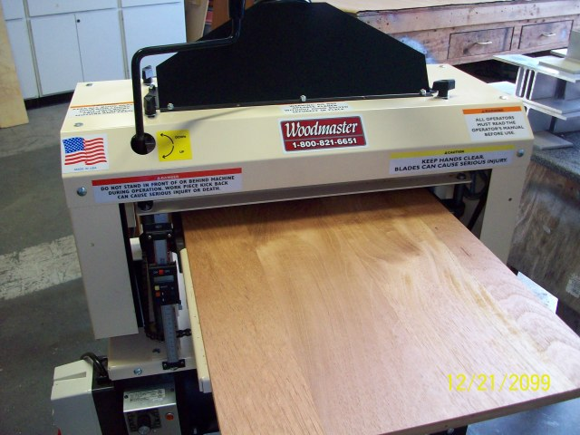 "As you can see, Charles isn't kiddin' about the smooth finish his 725 Woodmaster Molder/Planer creates with the Spiral Cutterhead leaves. Some say, ""Smooth as silk in a single pass."""