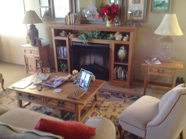 "Matt's a sales rep for Woodmaster's sister company, TimberKing Sawmills, here in Kansas City. But he sure knows his way around Woodmaster equipment. He made the fireplace surround shown here including all the molding. Always resourceful, Matt tells us, ""I made it with locally-sawn lumber and a table I found on the side of the road."""
