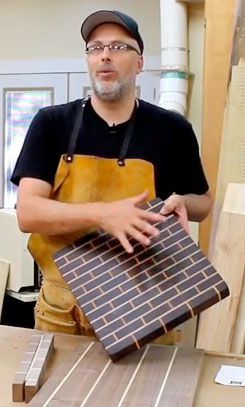 Make a handsome end grain cutting board. Woodmaster Owner, Paul Mayer, shows you all his tricks of the trade!