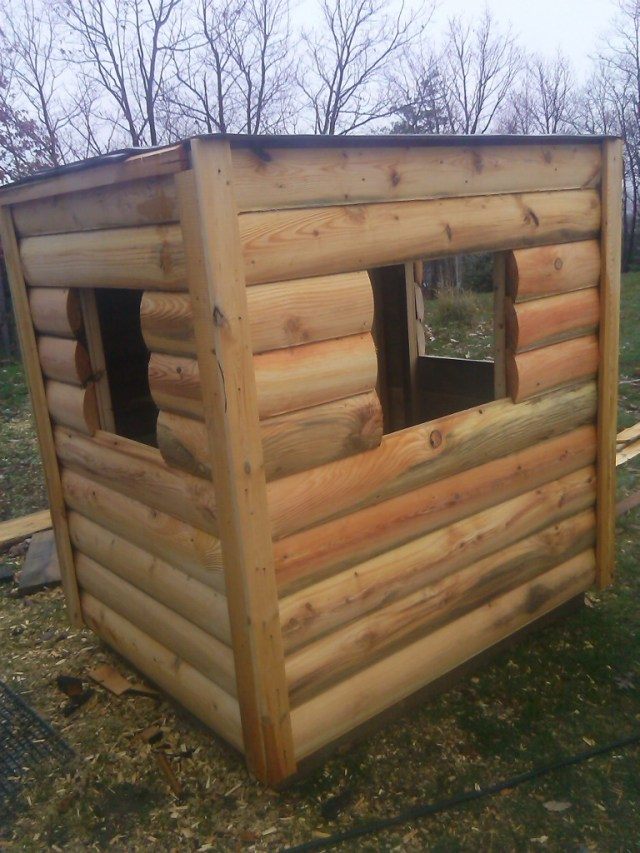 Pennsylvania, of course, has a long hunting heritage. Tim and Todd build log cabin hunting sheds — 9 so far and counting.