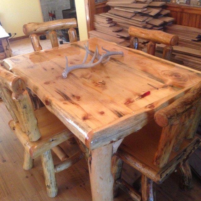 The James boys make furniture, too, with their Woodmaster. Todd tells us his furniture business is starting to take off.
