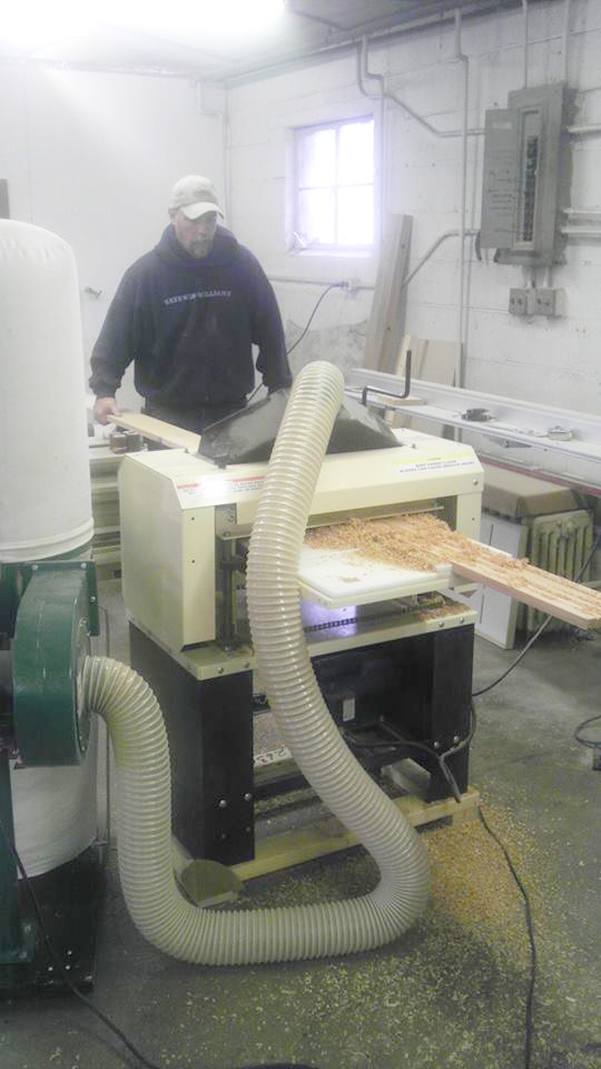 "Rob at work with his 18"" Woodmaster 718"