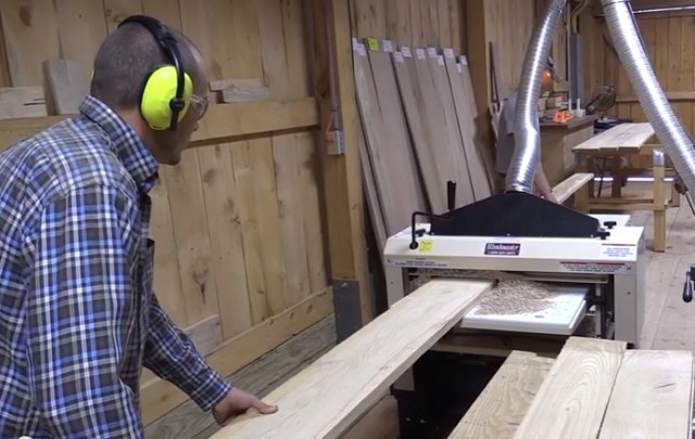 "Bob's business is a ""1-stop wood shop."" Customers can buy boards and slabs green, right off the mill. Or, they often have Bob put it through his Woodmaster to plane it, mold it, and turn it into finished goods -- flooring, trim, and more."