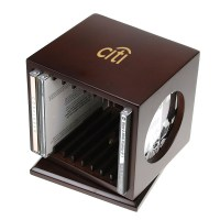 Revolving Wooden DVD/Blu-Ray Holder with Picture Frame | B209