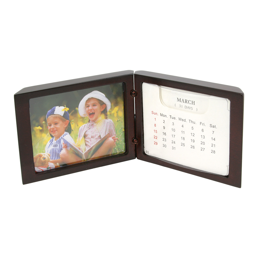Standing Desk Calendar with Small Picture Frame 314 x