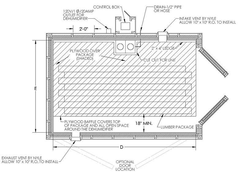 KD150 Dehumidification Wood Kiln| Portable Sawmills & Wood